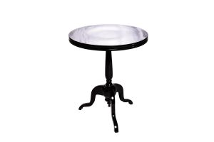 Photograph of Bordeaux Cafe Table Black – 60cmD x 80cmH
