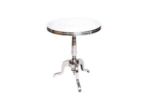 Photograph of Bordeaux Cafe Table Silver – 60cmD x 71cmH