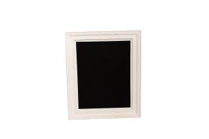 Photograph of Chalkboard in White Frame – 62cm x 73cm