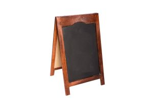 Photograph of Chalkboard Red Gum A-frame – 1mH x 60cmW