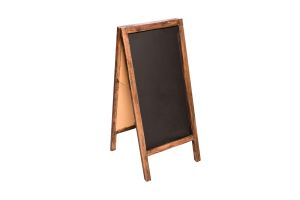 Photograph of Chalkboard Rustic Wood A-frame