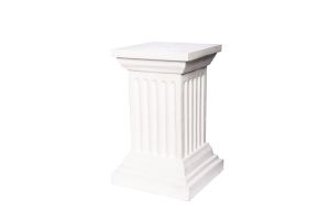 Photograph of Classic White Pedestal – 70cmH x 30cmD