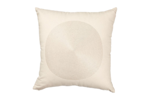 Photograph of Cream Circle Design Cushion – 42cmSQ