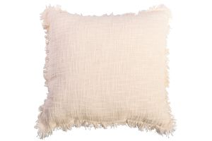 Photograph of Cream Fringed Cushion – 45cmSQ
