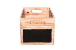 Photograph of Dark Wooden Box Medium with Chalk Board – 35cmL x 20cmH