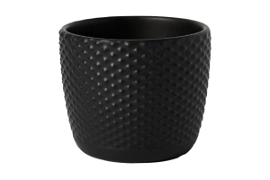 Photograph of Embossed Ceramic Votive Holder Black