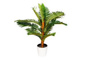 Photograph of Artificial Greenery – Fern Tree in White Pot – 80cmH