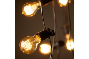 Photograph of Festoon Lights Black 10m (with 50cm spacing)