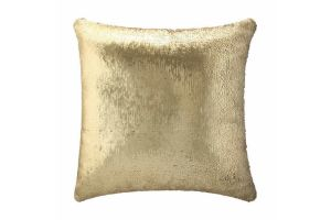 Photograph of Gold and Black Sequin Cushion – 43cmSQ