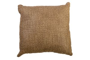 Photograph of Gold Knitted Cushion – 43cmSQ
