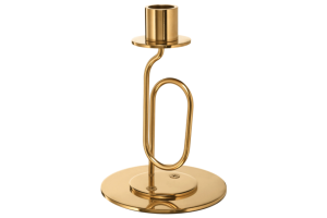 Photograph of Gold Candlestick Twisted – 16cmH