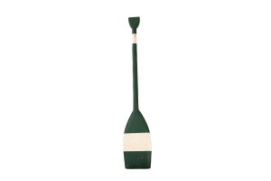 Photograph of Green and White Wooden Oar