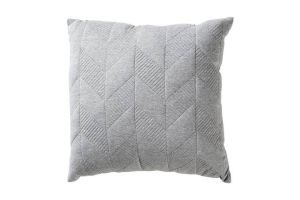 Photograph of Grey Herringbone Jersey Cushion – 45cmSQ