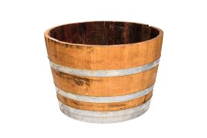 Photograph of Half Wooden Wine Barrel