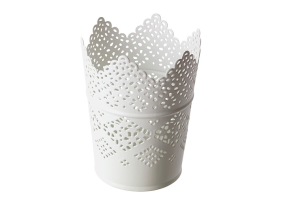 Photograph of Lace Candle Holder White – 11cmH