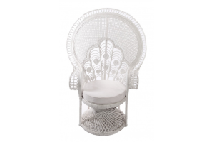 Photograph of Peacock Chair White Lady – 115cmW x 1.5cmH x 65cmD