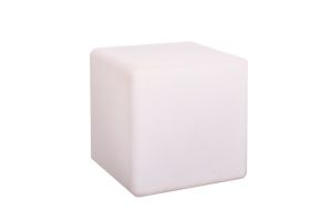 Photograph of LED Glow Cube Stool – 40cmSQ