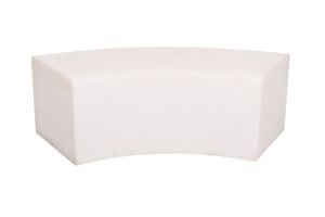 Photograph of LED Glow Curved Bench Seat – 1.1mL x 40cmSQ