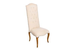 Photograph of Linen Louis High Back Chair