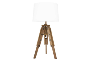 Photograph of Mariner Table Lamp with White Shade – 30cmW x 61.5cmH