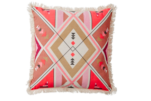 Photograph of Maya Tribal Pink Pattern Cushion – 42cmSQ