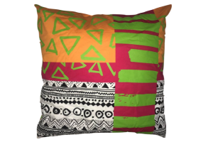 Photograph of Multicolour Tribal Pattern Cushion – 60cmSQ