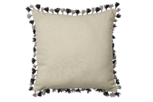 Photograph of Natural Linen Tassel Cushion – 42cmSQ