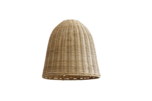 Photograph of Natural Rattan Pendant Lamp Shade – 30cmW x 30cmH