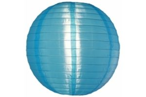 Photograph of Nylon Lantern - Light Blue Medium 35cmD