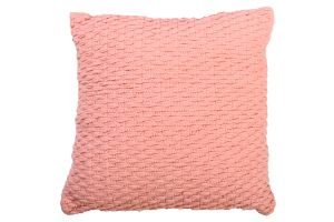 Photograph of Pale Pink Woven Cushion – 45cmSQ