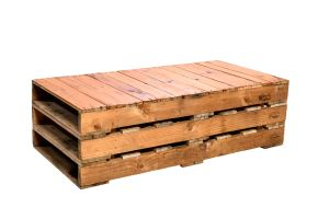 Photograph of Pallet Coffee Table Small – 1.2mL x 58cmW x 35cmH