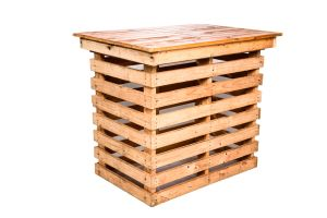 Photograph of Pallet High Cocktail Table – 1.1mL x 71cmW x 1.10mH