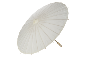 Photograph of Paper Parasol White – 90cmD