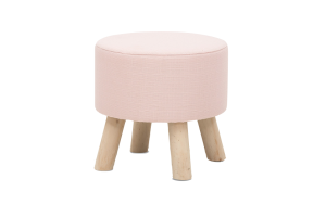 Photograph of Pastel Pink Ottoman – 49cmD x 45cmH