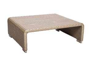 Photograph of Platinum Rattan Coffee Table Large – 80cmL x 70cmW x 27cmH
