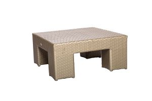 Photograph of Platinum Rattan Coffee Table Square – 71cmSQ x 32cmH