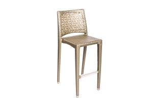 Photograph of Platinum Rattan High Bar Stool – 45cmW x 37cmD x 1.05mH