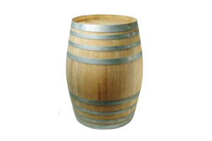 Photograph of Restored Wooden Wine Barrel – 96cmH x 66cmD