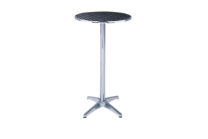 Photograph of Stainless Steel Cocktail Table – 1.1mH x 60cmD