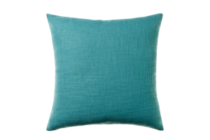 Photograph of Teal Textured Cotton Cushion – 45cmSQ