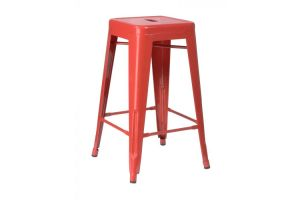 Photograph of Tolix Stool High Red