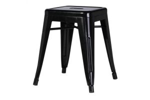 Photograph of Tolix Stool Low Black – 40cmSQ x 47cmH