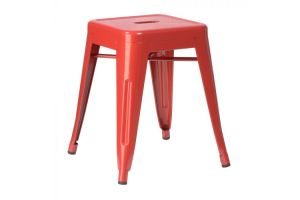 Photograph of Tolix Stool Low Red – 40cmSQ x 47cmH