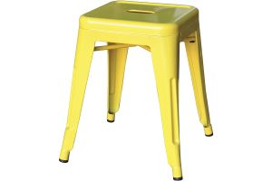 Photograph of Tolix Stool Low Yellow – 40cmSQ x 47cmH