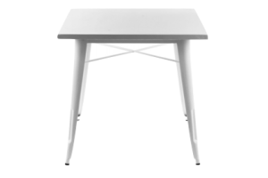 Photograph of Tolix White Cafe Table – 60cmSQ x 75cmH