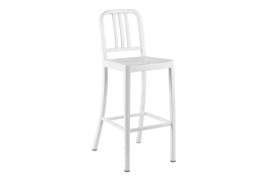 Photograph of U.S. Navy Stool White – 60cmW x 90cmD x 1.5mH