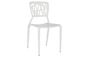 Photograph of Viento Replica Chair White – 44cmW x 50cmD x 84cmH