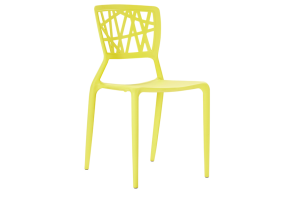 Photograph of Viento Replica Chair Yellow – 44cmW x 50cmD x 84cmH