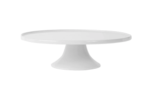 Photograph of White Cake Stand – 25cmD x 10cmH