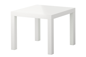 Photograph of White Low Side Table – 55cm x 55cm